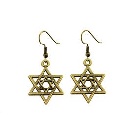 Серьги под бронзу «Звезда Давида»