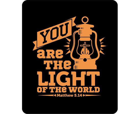 Коврик для мыши -  You are the light of the world (чёрный)